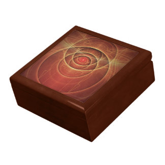 The Rusty Red Fractal Scarab of Fiery Old Man Ra Jewelry Boxes
