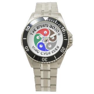 """The Ryukyu Dojo II"" Stainless Steel Bracelet Watch"