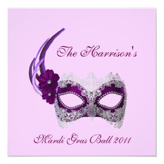 """The ______'s Mardi Gras Ball 2011"" - Royal Purple Card"