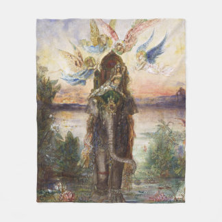 The Sacred Elepant Painting (1882) Fleece Blanket