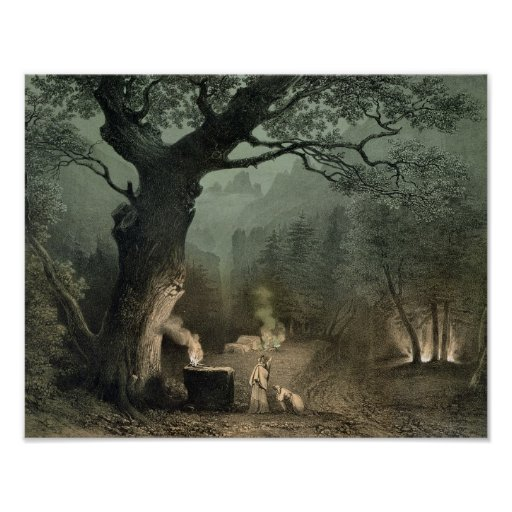 The Sacred Grove of the Druids Poster