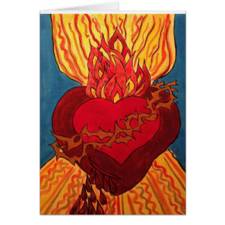 The Sacred Heart - from a Retablo Card