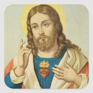 The Sacred Heart Square Sticker