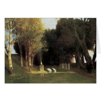 The Sacred Wood, 1882, Arnold Bocklin Card