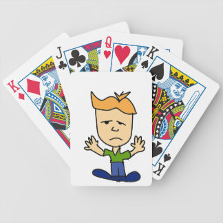 The sad boy bicycle playing cards