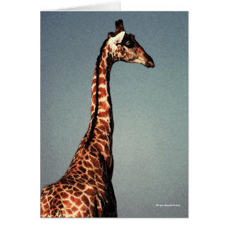 The Sad Giraffe - Digital Watercolor Greeting Card