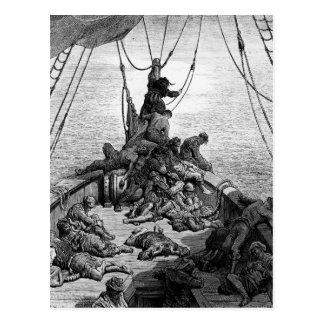 The sailors becalmed and tormented by thirst postcard