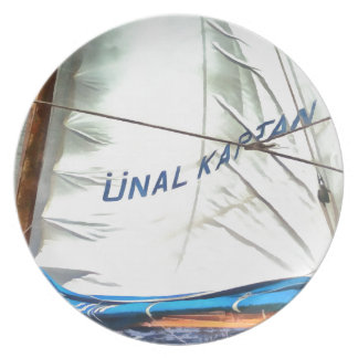 The Sails Of Unal Kaptan Party Plate