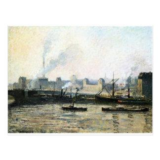 The Saint Sever Bridge at Rouen, Fog by Camille Postcard