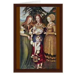 The Saints Agnes And Dorothy Kunigunde By Cranach Card