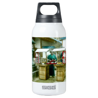 The Sake Seller in Old Rustic Japan Vintage Insulated Water Bottle