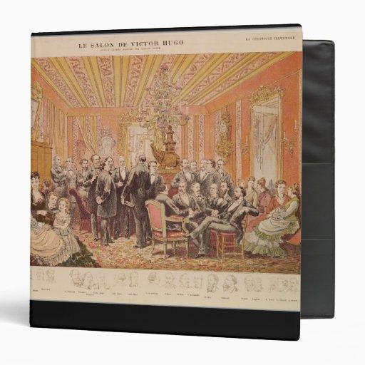 The Salon of Victor Hugo Vinyl Binder