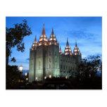 The Salt Lake City Utah LDS Temple Postcard