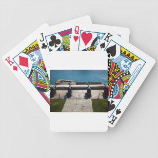 The saluting battery bicycle playing cards