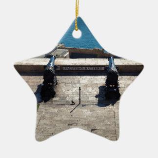 The saluting battery ceramic ornament