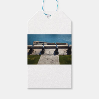 The saluting battery gift tags