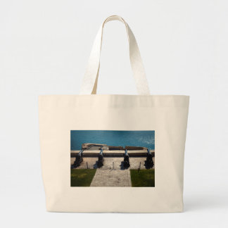 The saluting battery large tote bag