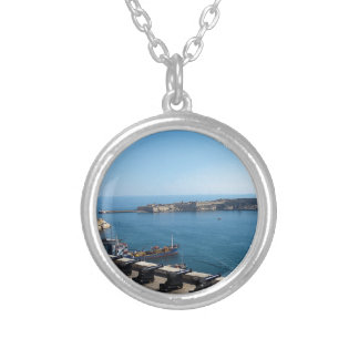 The Saluting Battery Silver Plated Necklace