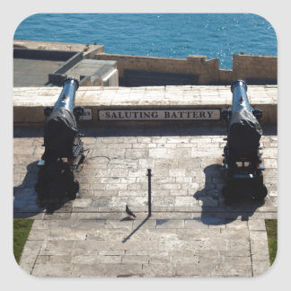 The saluting battery square sticker