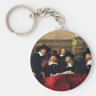 The Sampling Officials. By Rembrandt Van Rijn Keychain