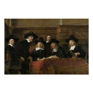 The Sampling Officials by Rembrandt van Rijn Poster