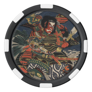 The samurai warriors Tadanori and Noritsune Poker Chips