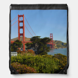 The San Francisco Golden Gate Bridge in California Drawstring Bag