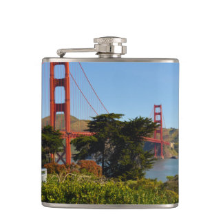 The San Francisco Golden Gate Bridge in California Flask
