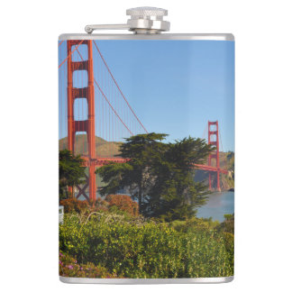 The San Francisco Golden Gate Bridge in California Flasks