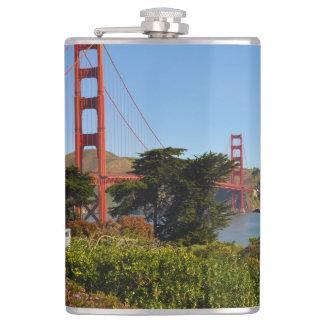 The San Francisco Golden Gate Bridge in California Hip Flask