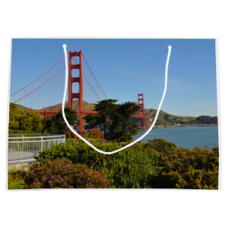 The San Francisco Golden Gate Bridge in California Large Gift Bag