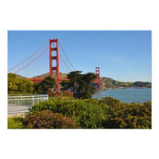 The San Francisco Golden Gate Bridge in California Photo Print