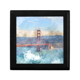 The San Francisco Golden Gate Bridge in California Trinket Box