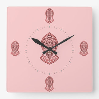 The Sandal Of The Prophet (Henna)(Red) Square Wall Clock