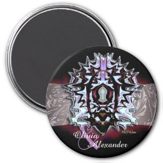 The Sandal Of The Prophet (Silvery Maroon) 3 Inch Round Magnet