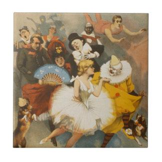 The Sandow Trocadero Vaudevilles, 1894 Poster Tile