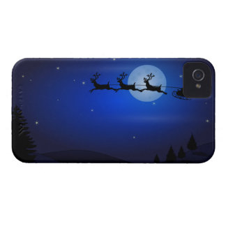 The Santa Claus sleigh in the night of goes Case-Mate iPhone 4 Case