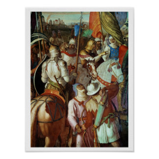 The Saracen Army outside Paris, 730-32 AD Poster