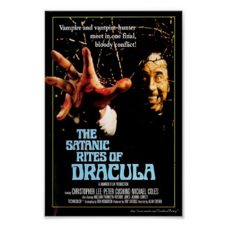 """The Satanic Rites of Dracula"" (1973) Movie Poster"