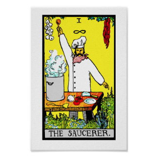The Saucerer! Poster Print
