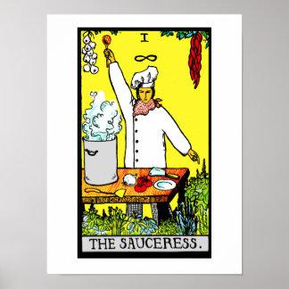The Sauceress Poster Print