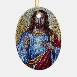 The Savior Ceramic Oval Ornament