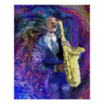 The Sax Player Poster