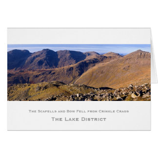 The Scafells and Bow Fell Card