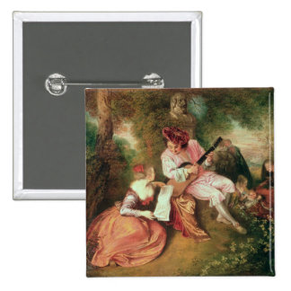 The Scale of Love, 1715-18 2 Inch Square Button