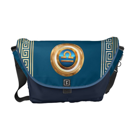 The Scales Zodiac Sign Courier Bags