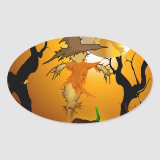 The Scarecrow Oval Sticker