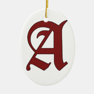 The Scarlet Letter Ceramic Oval Ornament