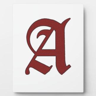 The Scarlet Letter Plaque