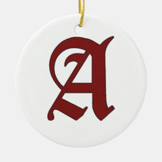 The Scarlet Letter Round Ceramic Ornament